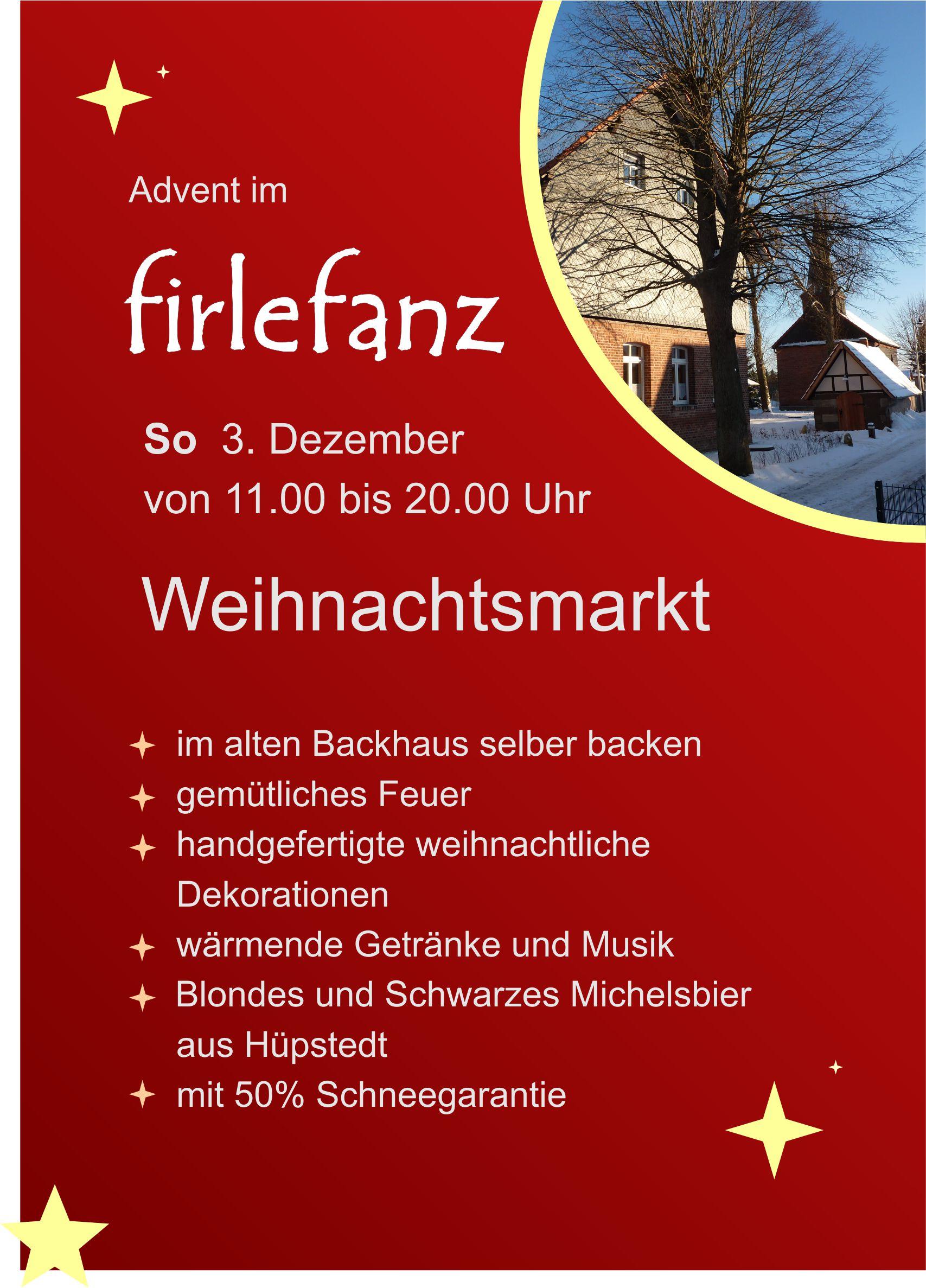 Weihnachtsmarkt 2017 - Gasthof Firlefanz